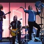 Canadian band Arcade Fire performing in France last week.