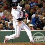 Boston MA 07/29/17 Boston Red Sox Eduardo Nunez hits a solo home run against the Kansas City Royals during fifth inning action at Fenway Park. (Matthew J. Lee/Globe staff) topic: reporter: