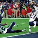 Glendale, AZ - 2-1-15 - Super Bowl XLIX - NE Patriots - Seattle Seahawks - Patriot DB Malcolm Butler intercepts Russell Wilson end of 4th quarter. (Barry Chin / Globe staff)