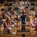 The Boston University Tanglewood Institute orchestra rehearses in Lenox.