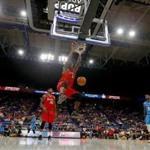 LEXINGTON, KY - AUGUST 06: Al Harrington #3 of Trilogy dunks the ball during the game against Power during week seven of the BIG3 three on three basketball league at Rupp Arena on August 6, 2017 in Lexington, Kentucky. (Photo by Kevin C. Cox/BIG3/Getty Images)