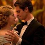 "Claire Foy and Andrew Garfield star in ""Breathe."""