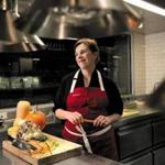 Chef Barbara Lynch in the kitchen of Menton in Boston. Menton received a Five Diamond award from AAA this year.