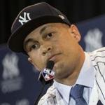 Slugger Giancarlo Stanton spoke to the media Monday after being introduced as the newest member of the Yankees. The Red Sox did pursue the reigning National League MVP, team executive Dave Dombrowski said.