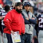 Foxborough, MA - 1/21/2017 - Patriot defensive coordinator Matt Patricia isn't happy during 2nd quarter of the AFC Championship playoff game between the New England Patriots and the Jacksonville Jaguars at Gillette Stadium. (Jim Davis/Globe staff)