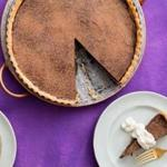 A chocolate tart perfect for your valentine.