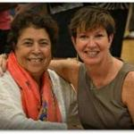 Zabuli Education Center founder Razia Jan, left, and executive director Patti Quigley at a fund-raiser in 2015.