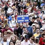 People rallied outside Florida's state Capitol in Tallahassee in support of stronger gun-control laws on Wednesday.