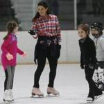 Nancy Kerrigan skated with local kids at the Stoneham Ice Arena.