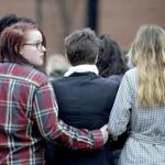 Students stood in silence for 17 minutes as they participated in a walkout to protest gun violence, in Hagerstown, Md., on Wednesday.
