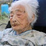 This Sept. 2015 photo shows Nabi Tajima, the world's oldest person, a 117-year-old Japanese woman. Tajima died of old age, at 117, in a hospital Saturday evening, April 21, 2018, in the town of Kikai in southern Japan, town official Susumu Yoshiyuki confirmed. She had been hospitalized since January. (Kikai Town/Kyodo News via AP)