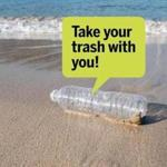One of the things tourists can do to remain in good standing with locals, remove your trash from the beach.