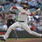 Boston Red Sox starting pitcher David Price throws against the Seattle Mariners in a baseball game Thursday, June 14, 2018, in Seattle. (AP Photo/Elaine Thompson)
