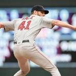 MINNEAPOLIS, MN - JUNE 19: Chris Sale #41 of the Boston Red Sox delivers a pitch against the Minnesota Twins during the first inning of the game on June 19, 2018 at Target Field in Minneapolis, Minnesota. (Photo by Hannah Foslien/Getty Images)