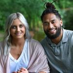 Patriots linebacker Harvey Langi and his wife, Cassidy. know they are lucky to be alive.
