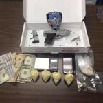 Seekonk police say they took these items from a suspect during a drug bust on Friday.