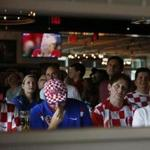 Charlestown, MA--7/15/2018-- Croatian fans react after France scores a goal against Croatia during a World Cup watch party with the New England Friends of Croatia at Blackmoor Bar & Kitchen. (Jessica Rinaldi/Globe Staff) Topic: Reporter:
