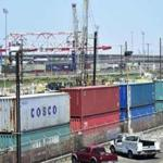 (FILES) In this file photo taken on July 12, 2018 shipping containers, including those from COSCO, a Chinese state-owned shipping and logistics company await transportation on a rail line at the Port of Long Beach in Long Beach, California. - US President Donald Trump on September 17, 2018 hailed his aggressive use of tariffs as a success for American business, amid reports he plans to drastically ratchet up the battle with Beijing imminently. China's foreign ministry vowed Monday to strike back if Trump presses ahead with plans to impose duties on another $200 billion in Chinese imports, which would leave about half of everything the United States buys from China subject to tariffs. (Photo by Frederic J. BROWN / AFP)FREDERIC J. BROWN/AFP/Getty Images