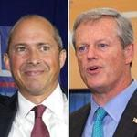 The Planned Parenthood League of Massachusetts Action Fund won't endorse Democratic challenger Jay Gonzalez (left) or Republican incumbent Charlie Baker in the governor's race.