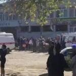 Emergency responders loaded an injured person into an ambulance in Kerch, Crimea, Wednesday.