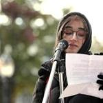 """How is the death of 6 million of my people a joke?""student Tali Shorr asked the crowd at Sunday's rally."