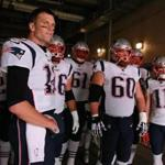 Nashville TN 11/11/18 New England Patriots Tom Brady and his offense in the tunnel before they play the Tennessee Titans at Nissan Field. (photo by Matthew J. Lee/Globe staff) topic: reporter: