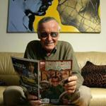 Stan Lee in his office in Beverly Hills in 2004.