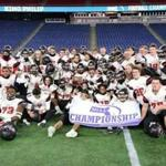 Foxborough MA 11/30/18 North Andover team after they defeated King Philip 6-0 capturing the MIAA Division 1 State Championship at Gillette Stadium. (photo by Matthew J. Lee/Globe staff) topic: 01schbowl reporter: Nathaniel Weitzer