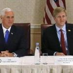 Nick Ayers (right) has served as Vice President Mike Pence's chief of staff.