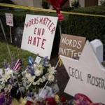 A memorial for the 11 victims killed by a shooter at Tree of Life Congregation in Pittsburgh in October. Hate crime increased 17 percent last year from 2016, the FBI has reported, and a new state report said the number of hate crimes in Massachusetts in 2017 reached its highest level since 2003.