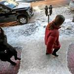 BOSTON, MA - 1/22/2019: There is always.... just that one spot to look out for like this slippery patch of frozen ice and snow left unshoveled in front of a residential building on Cambridge Street Boston after a weekend storm. (David L Ryan/Globe Staff ) SECTION: METRO TOPIC stand alone photo