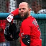 Fort Myers , FL - 2/18/2019 - (Day 7) Boston Red Sox second baseman Dustin Pedroia (15). Boston Red Sox first full squad workout at Jet Blue Park in Fort Myers, FL. - (Barry Chin/Globe Staff), Section: Sports, Reporter: Peter Abraham, Topic: 18Red Sox, LOID: 8.5.44661335.