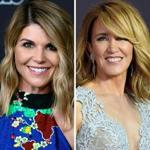 Actresses Lori Loughlin (left) and Felicity Huffman.
