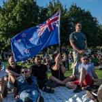 A vigil in Christchurch, New Zealand, on Sunday.