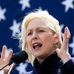 Democratic presidential candidate Kristen Gillibrand holds a speech during the official kick-off rally of her campaign for US president on March 24, 2019 in New York. (Photo by Johannes EISELE / AFP)JOHANNES EISELE/AFP/Getty Images