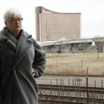 "Nancy Thomas of Somerville says the casino is ""like an evil person watching over me."""