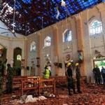 Security personnel inspect the interior of St. Sebastian's Church in Negombo on April 22, 2019, a day after the church was hit in series of bomb blasts targeting churches and luxury hotels in Sri Lanka. - The death toll from bomb blasts that ripped through churches and luxury hotels in Sri Lanka rose dramatically April 22 to 290 -- including dozens of foreigners -- as police announced new arrests over the country's worst attacks for more than a decade. (Photo by ISHARA S. KODIKARA / AFP)ISHARA S. KODIKARA/AFP/Getty Images