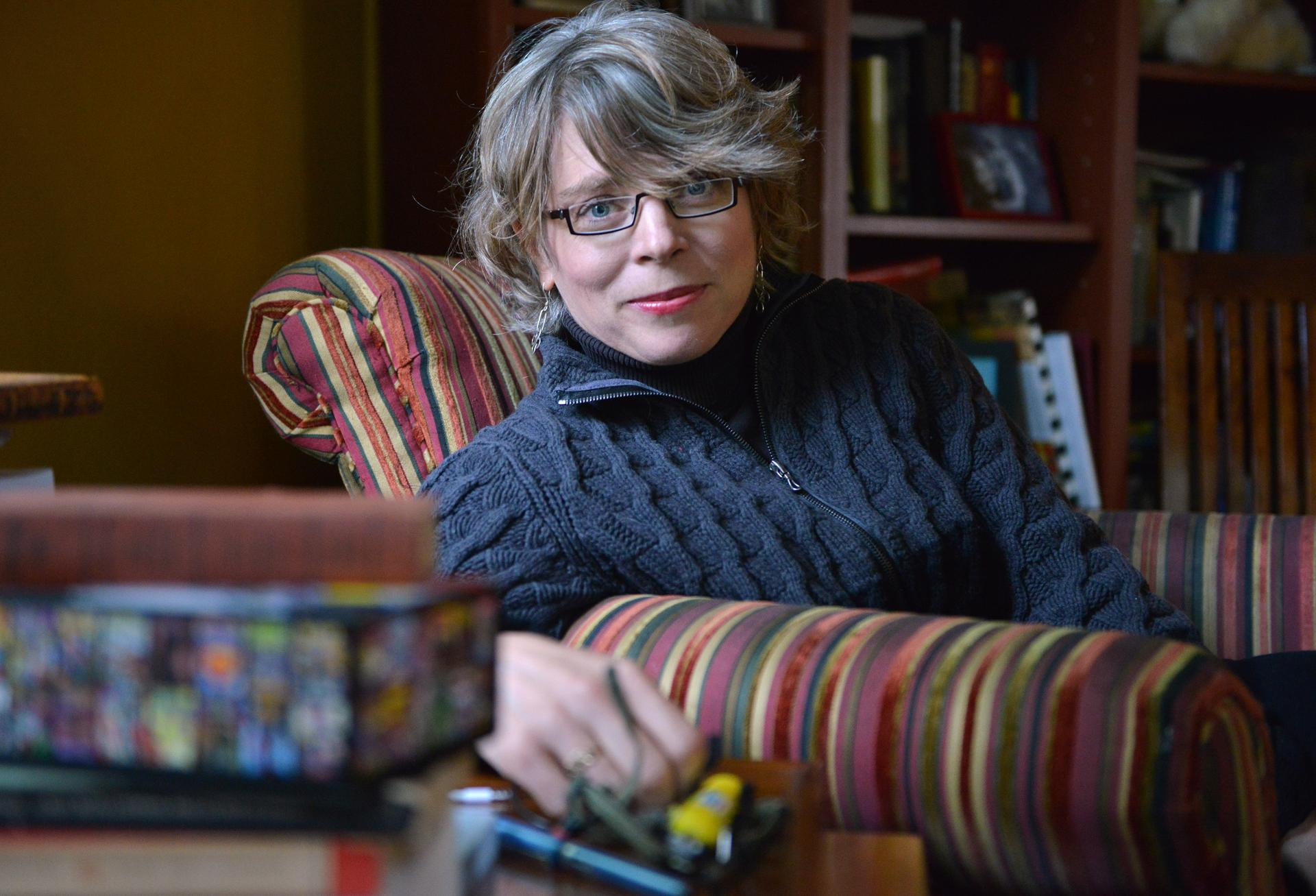 Historian And Harvard Professor Jill Lepore In The Living Room Of Her Cambridge Home Josh