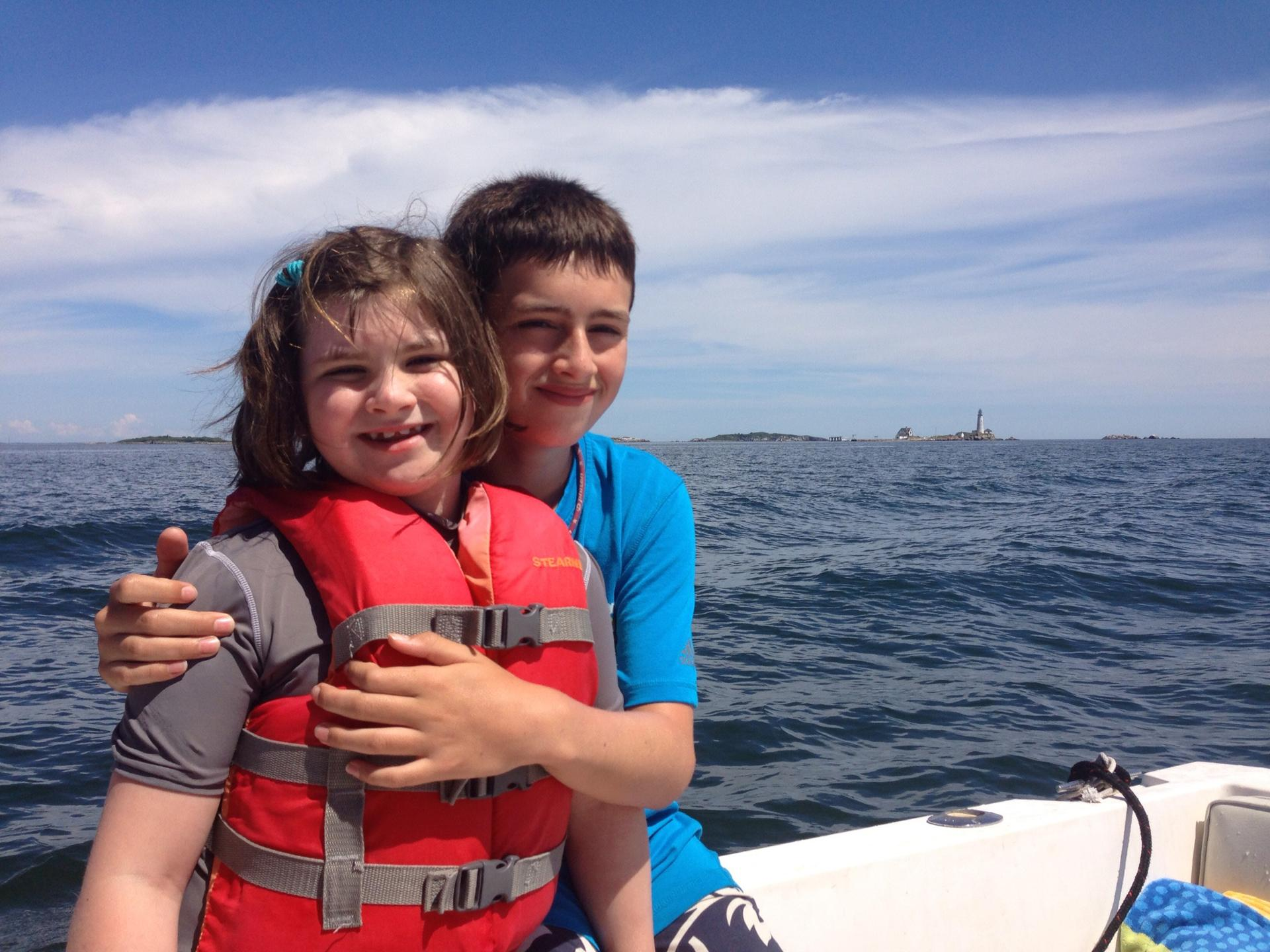Inspired by the boats they saw from Spaulding Rehabilitation Hospital, the family took up sailing.