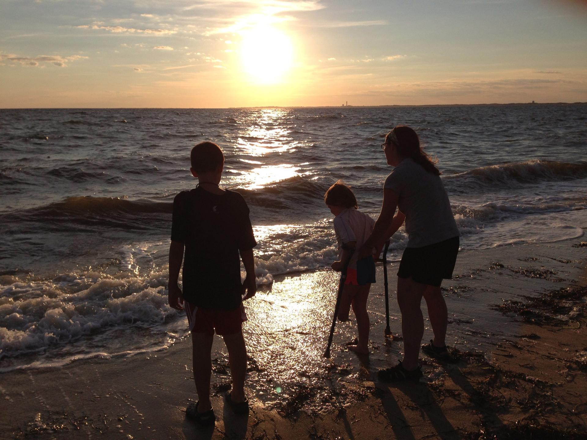 The Richards walked along Truro's shore in August. The summer routine, often a trip to New Hampshire, took on a different meaning without Martin. They needed new memories.