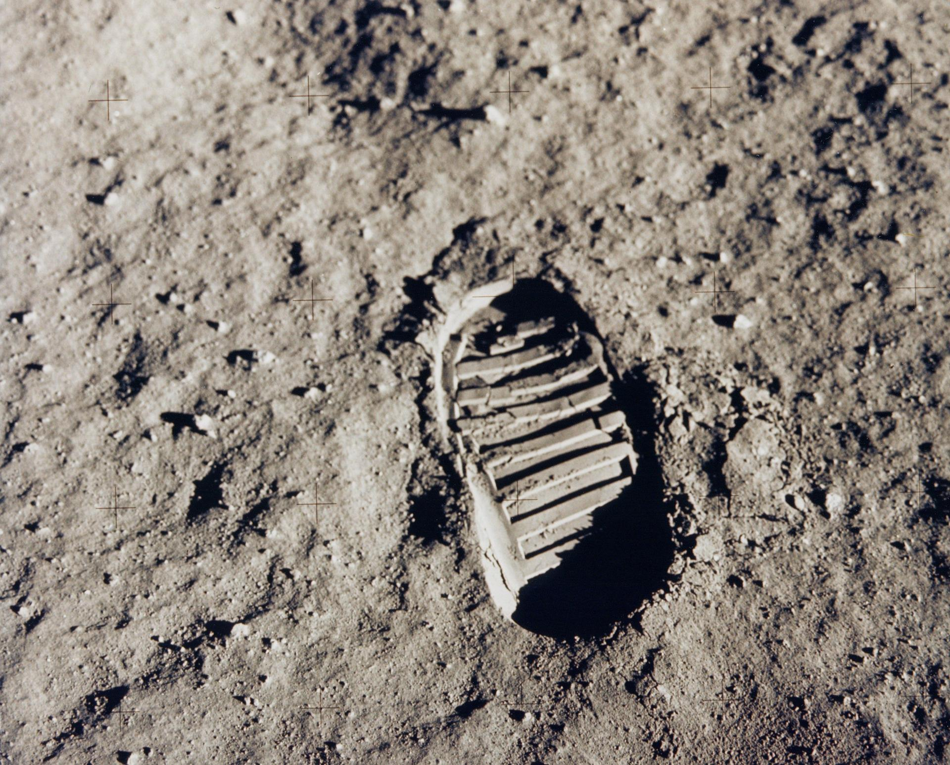 One Of The First Steps On The Moon