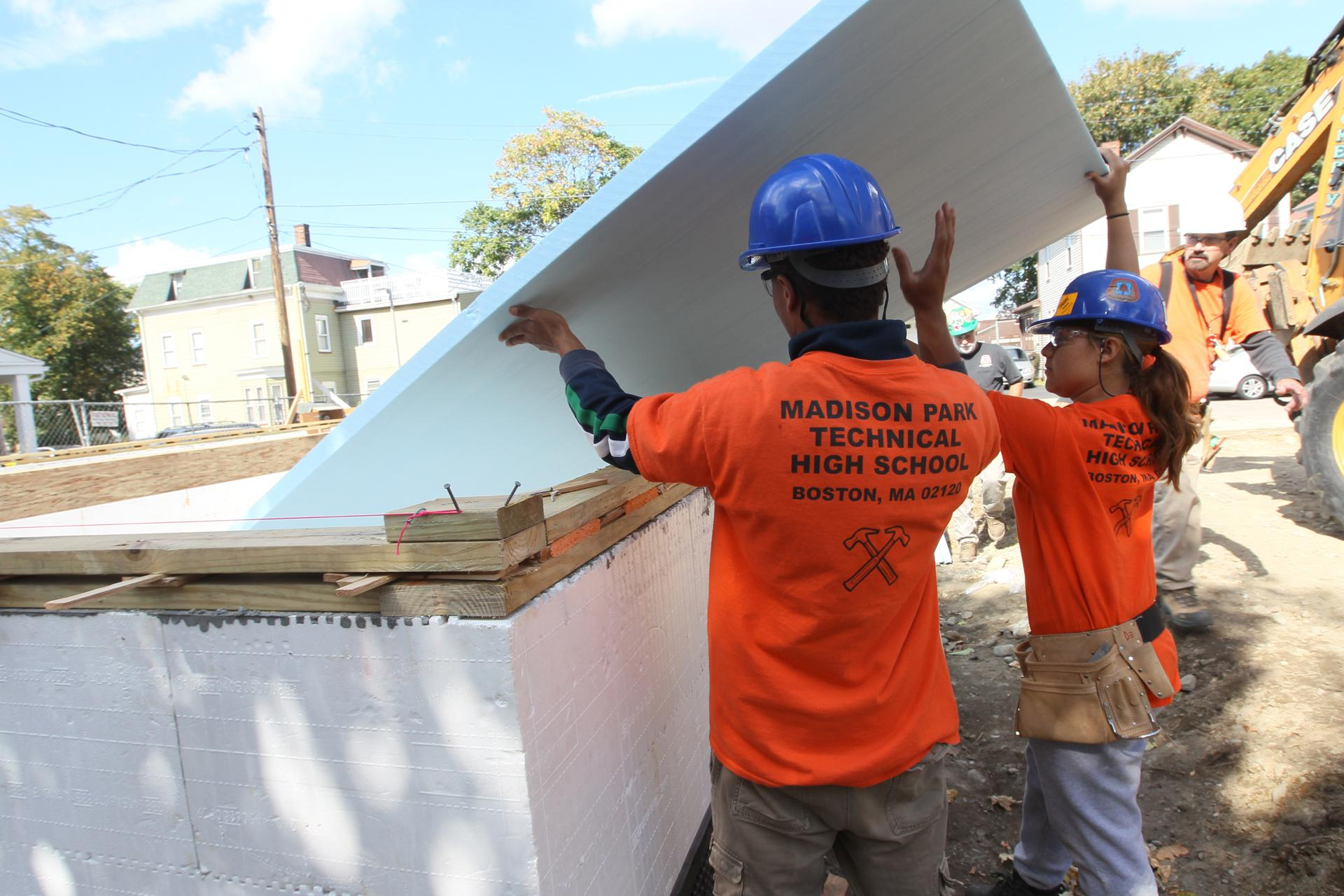 boston s long journey to develop stellar vocational school marked carpentry students from madison park technical vocational high school are helping to build a home at