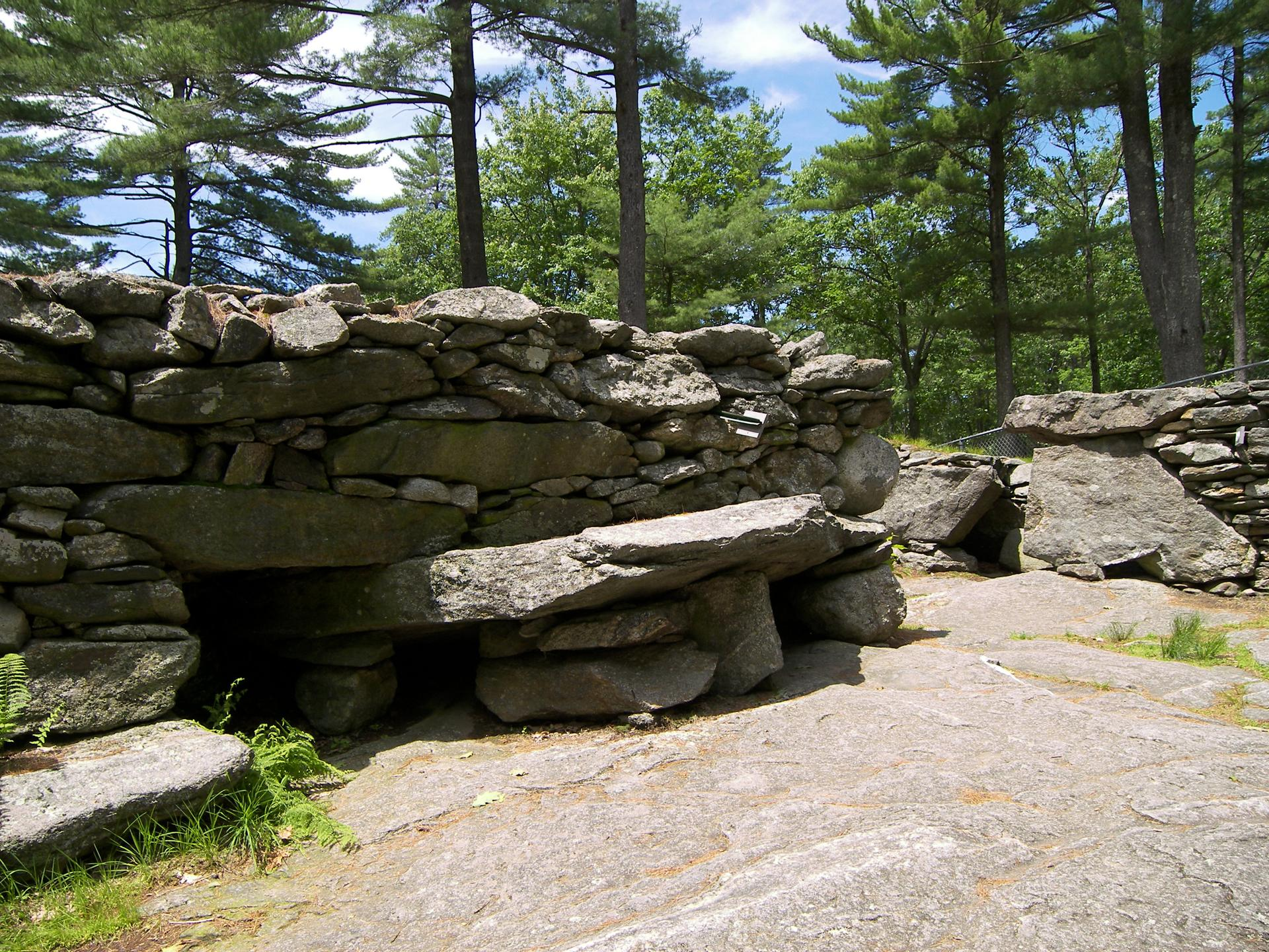 One of the ancient constructions at America's Stonehenge in Salem, NH.