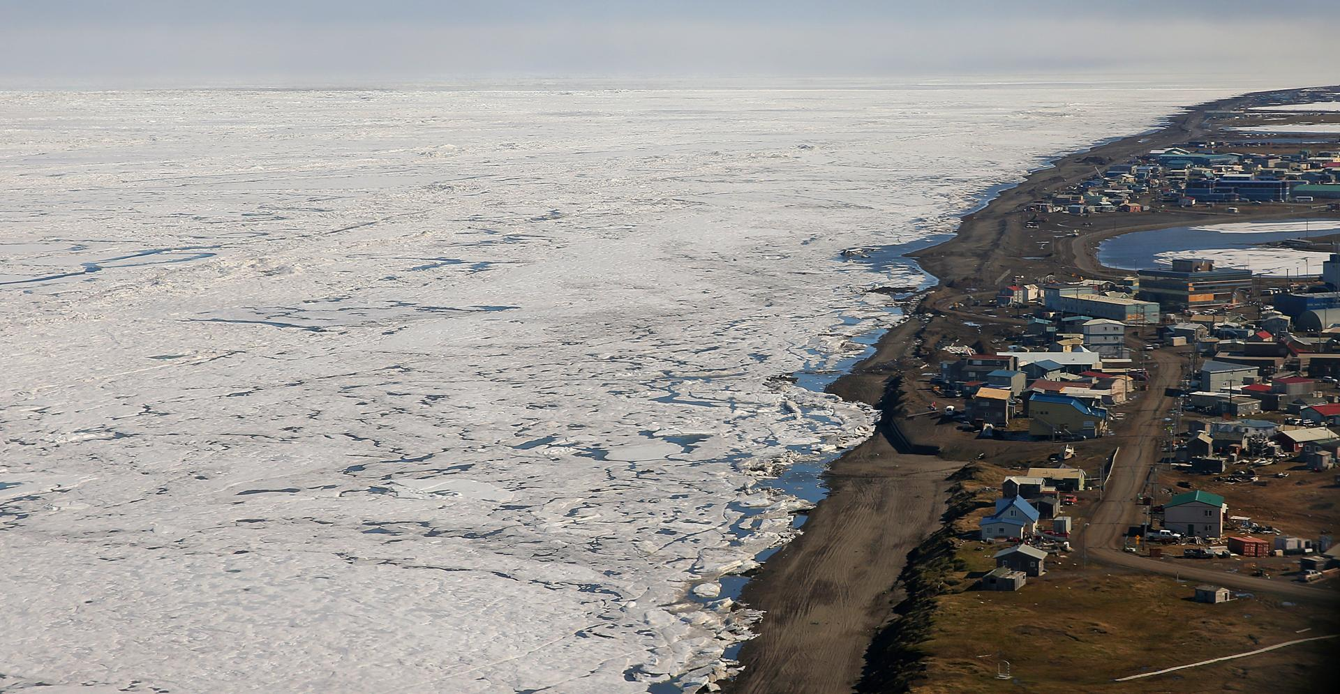 Officials have sought to protect Barrow, Alaska, which is fewer than 15 feet above sea level, by moving municipal buildings and lining the coast with berms and sandbags.