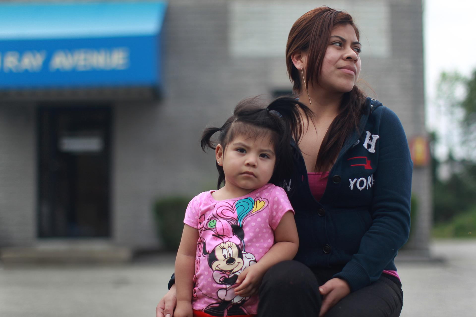 Veronica Morales, Shown With Her Daughter, Travels To Burlington From Lynn  Weekly To Have