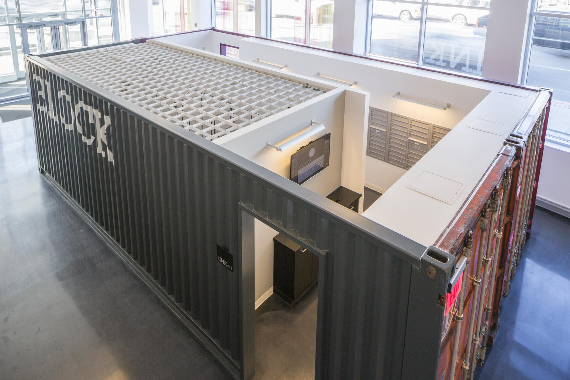 repurposed shipping containers spread across boston - the boston globe