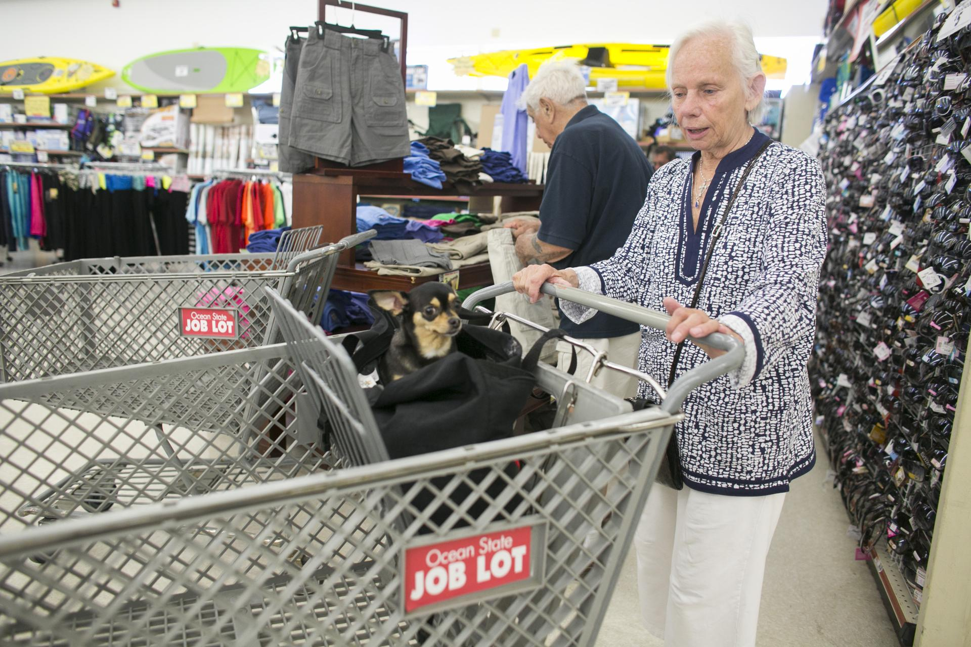 Jeanette Levesque Of Auburn Shopped With Her Chihuahua Ruka.