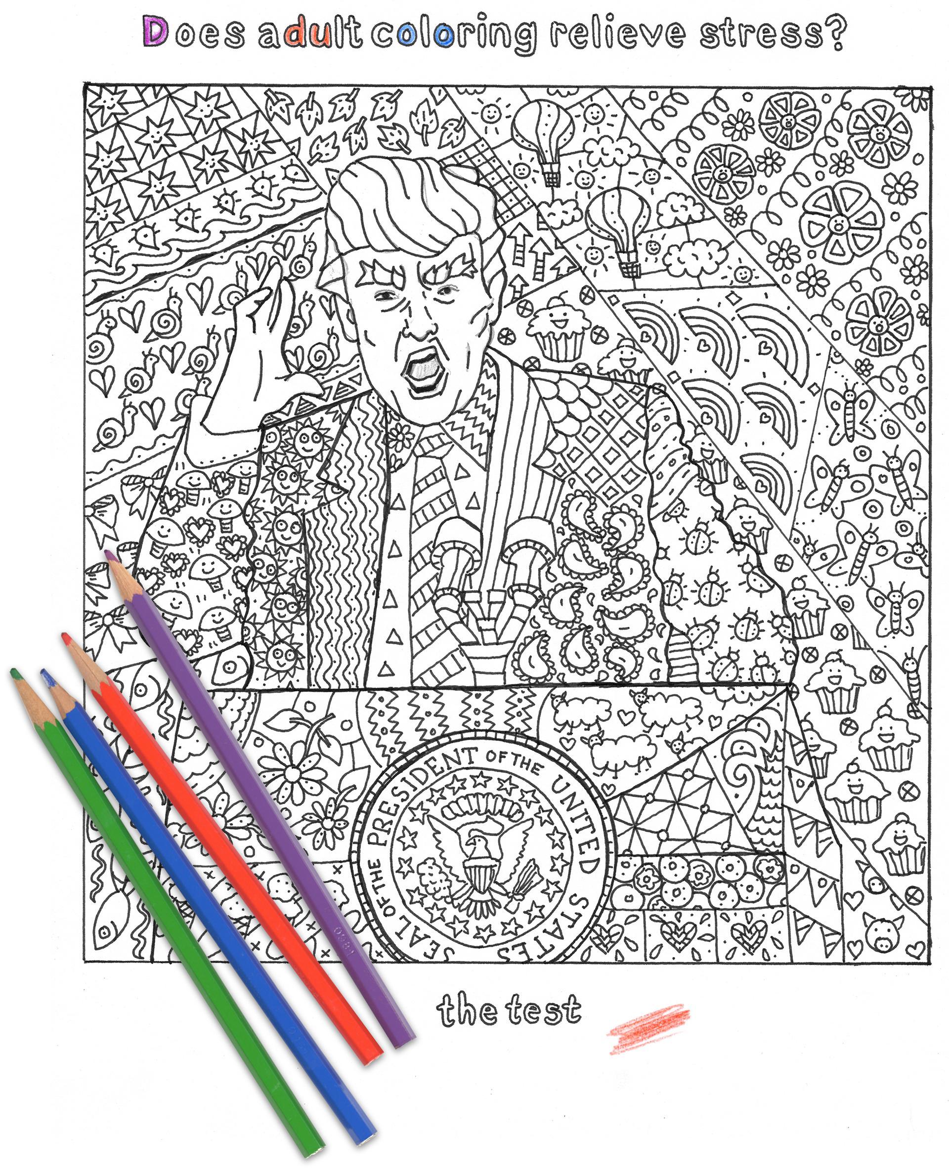 the donald trump coloring page the boston globe