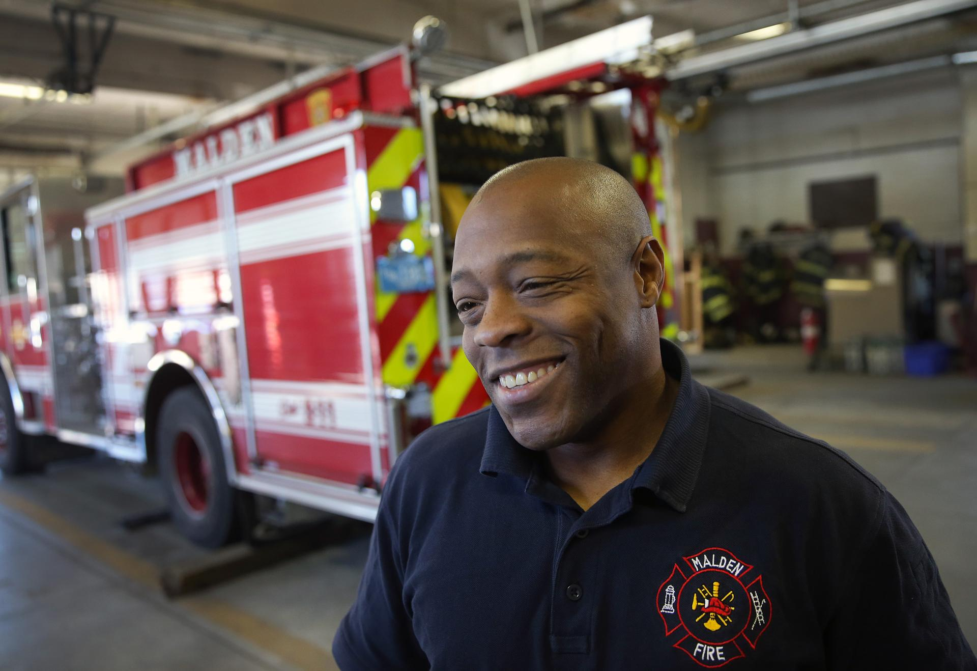 saugus firefighters rescued while battling blaze the boston globe malden firefighter gregory jean was smiling after he was safely back at his home fire station