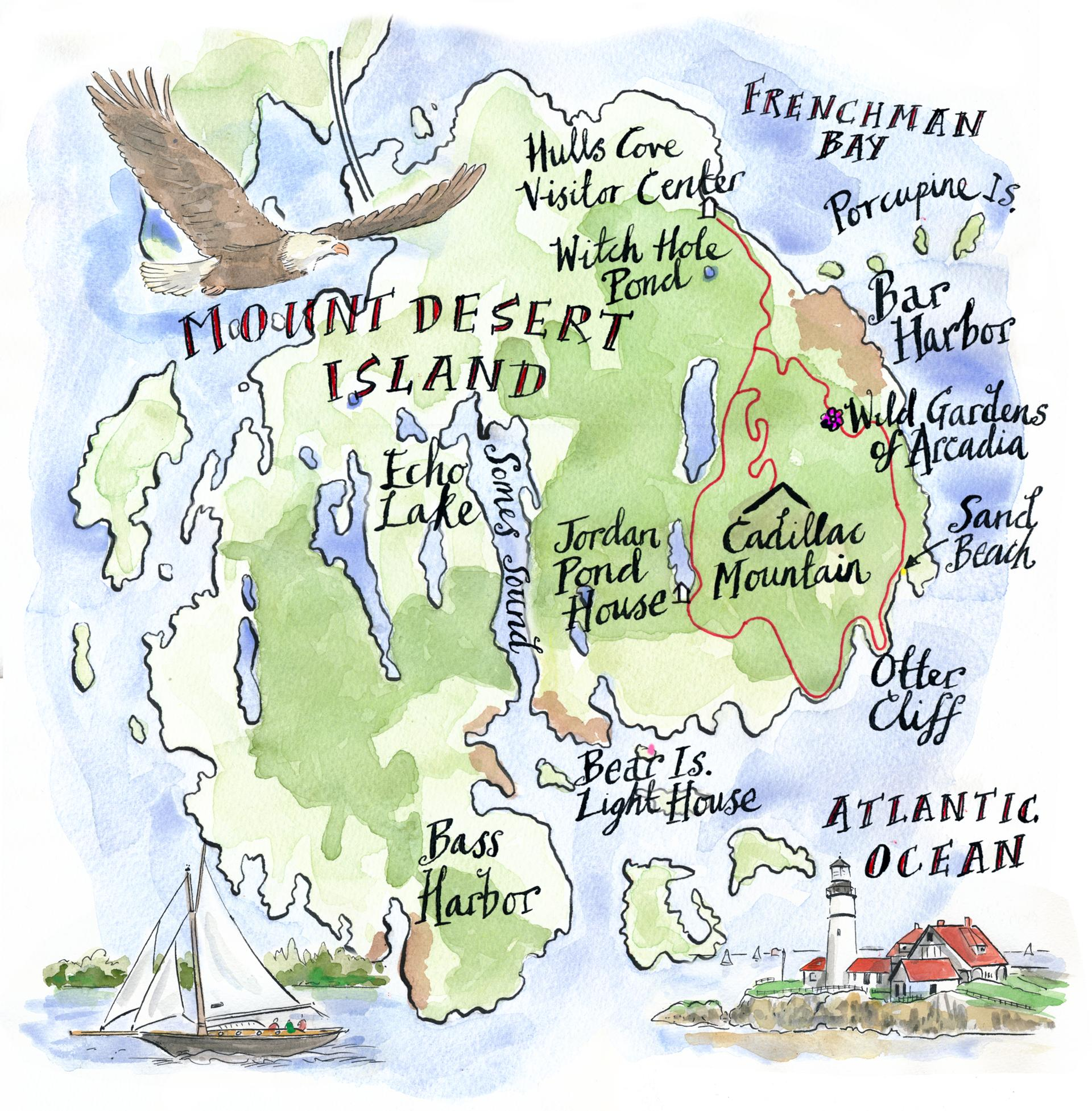 Five Ways To See Acadia National Park On Its Th Anniversary - Acadia national park on the map of the us